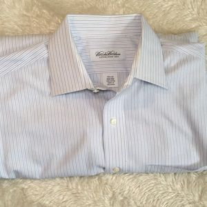 Good brooks brothers blue stripes 15.5-32